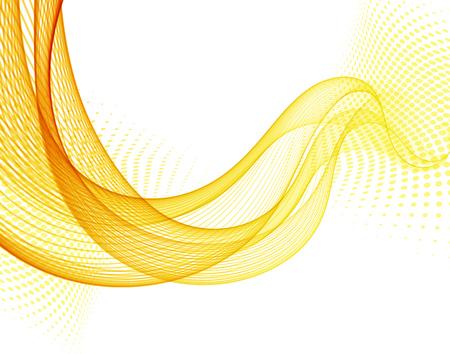 Fondo de vector abstracto con onda de color naranja suave con semitono Ilustración de vector