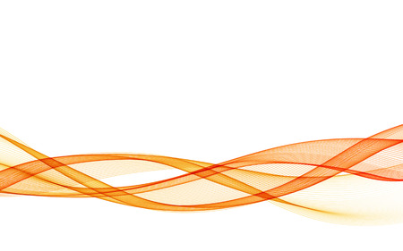 Abstract vector background with orange smooth color wave. Color wavy lines