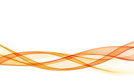 Abstrakter Vektorhintergrund mit orange glatter Farbwelle. Färben Sie Wellenlinien
