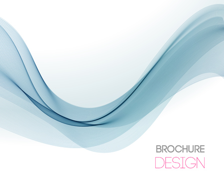 Abstract vector background with smooth color wave. Smoke wavy lines Ilustração