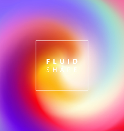 Fluid colors background. Vector illustration for social media banners, posters designs, ads, promotional material. Stock Illustratie