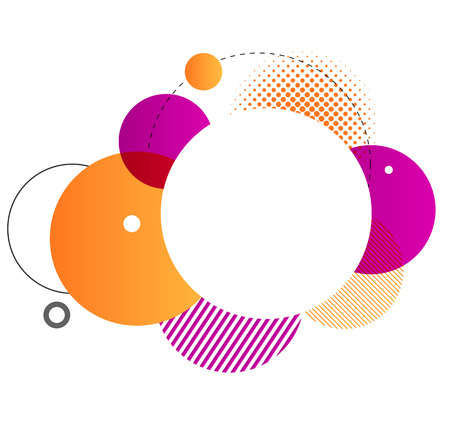 Colorful geometric background. Vector Round shapes composition
