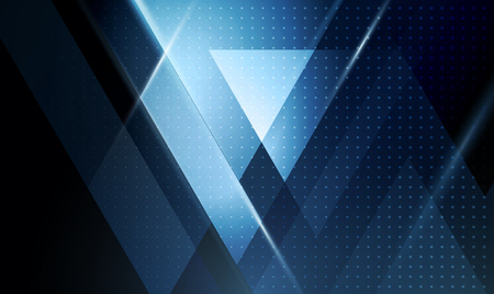 Vector color abstract geometric banner with triangle shapes