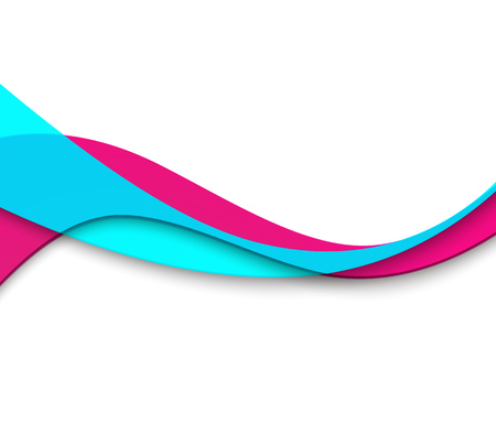 Abstract smooth color wave vector. Curve flow motion illustration Blue and magenta Stock Illustratie