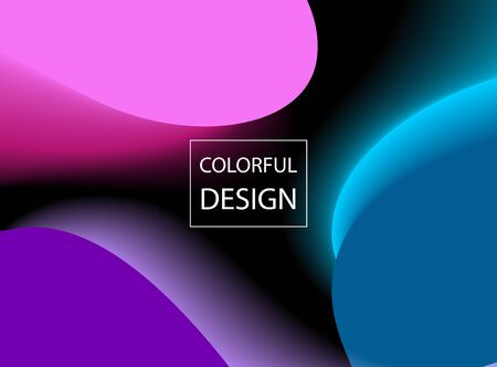 Abstract colorful moving background. Design Template for poster and cover. Vector Illustration.
