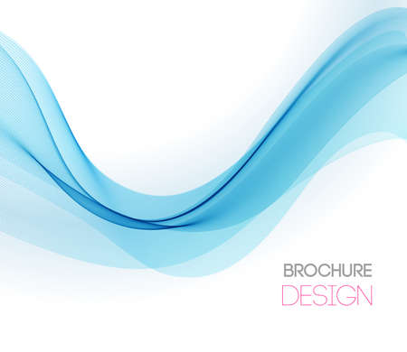 Abstract vector background with smooth color wave Stockfoto - 155209345