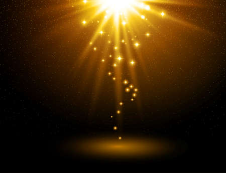 Abstract light background. Magic light with gold burst Stockfoto - 159266677