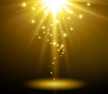 Abstract light background. Magic light with gold burst Stock Illustratie
