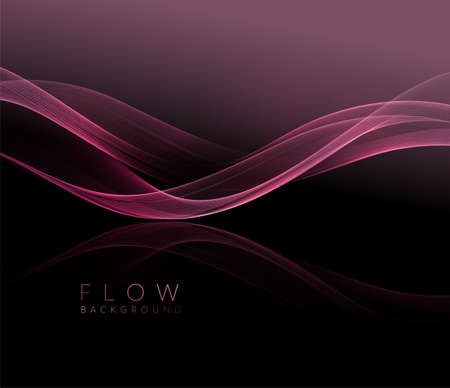 Abstract shiny pink wavy design element. Flow gold wave Stockfoto - 159282507