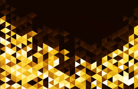 Abstract template background with gold triangle shapes. Stockfoto - 159316571