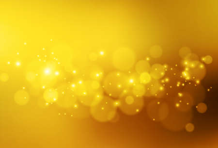 Soft golden lights. Abstract vector bokeh background. Stockfoto - 159315756