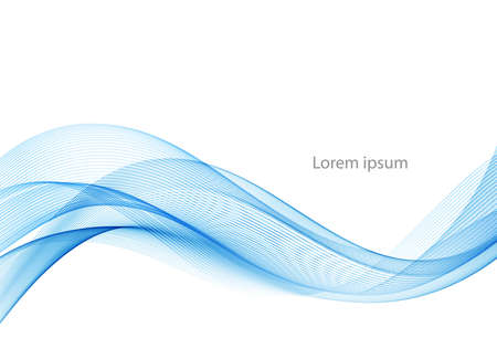 Vector blue abstract wave design element. Smoke lines Stockfoto - 159775637