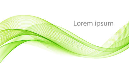 Vector green abstract wave design element. Smoke lines Ilustracje wektorowe