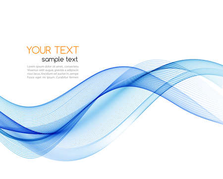Vector blue abstract wave design element. Smoke lines Stockfoto - 159920431