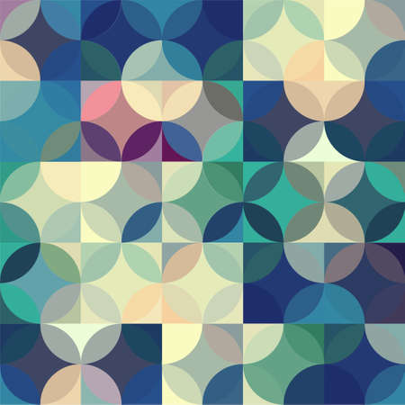 Retro seamless pattern with circles. Colorful vector background for hipster. Stockfoto - 160064996