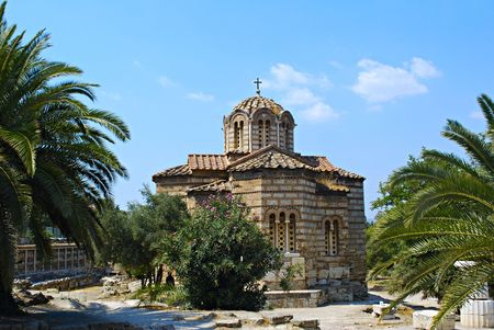 reconstructed: A reconstructed ortodox church on Athenian Agora
