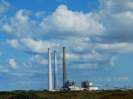 fueled: A fossil fueled power station Stock Photo