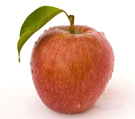Apple in water droplets Stock Photo - 3735787
