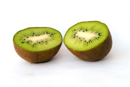 national fruit of china: Kiwi fruit isolated on white background Stock Photo