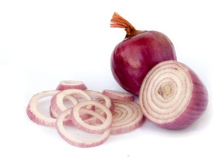 Onion isolated on white background photo