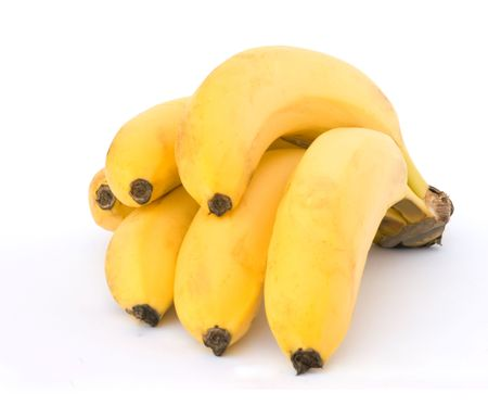 whie: Bunch of bananes isolated on whie background