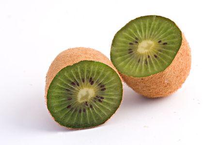 actinidia deliciosa: Kiwi fruit isolated on white background Stock Photo