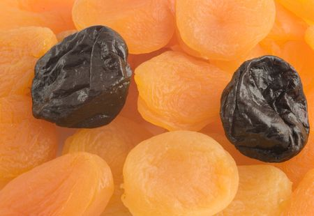 dried plums: Dried apricots and plums