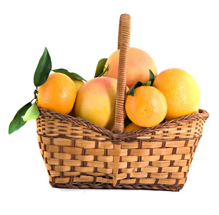 Tangerines, grapefruits and oranges in basket Stock Photo - 4004854