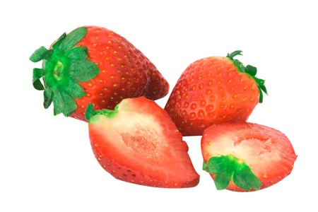 fragaria: Strawberries isolated on white background
