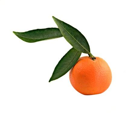 vitamines: Tangerine isloated on white background