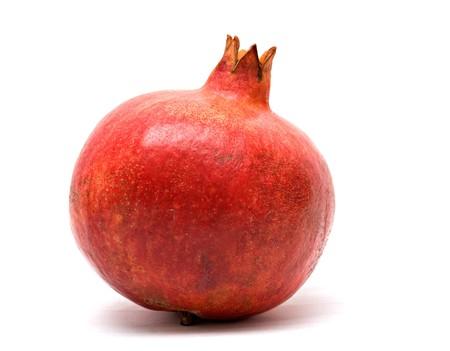 superfruit: Ripe pomegranates  isolated on white background
