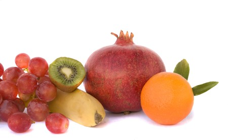 national fruit of china: Fruit composition isolated on white background