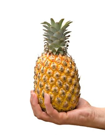 Presenting ripe pineapple photo