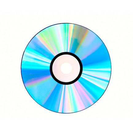 Compact disc isolated on white background Stock Photo