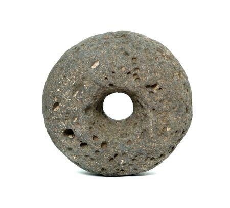steencirkel: Eerste steen wiel Stockfoto