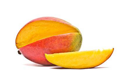 superfruit: Mango and segment isolated on white background Stock Photo