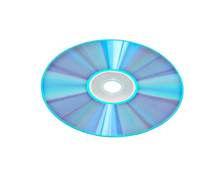 rewritable: DVD isolated on white background