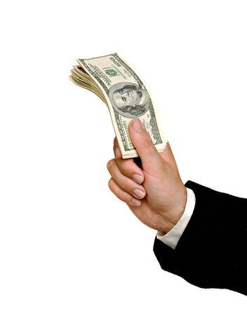 Dollars in hand  photo