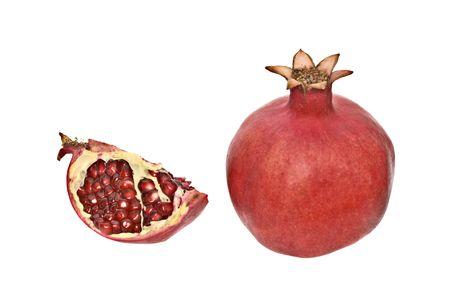 jewish new year: Pomegranates, fruits eaten on Rosh Hashanah (Jewish New Year) Stock Photo