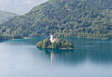 assumption: Assumption of Mary Pilgrimage Church on island in Lake Bled, Slovenia