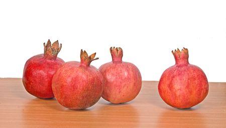 superfruit: Close up of ripe pomegranates Stock Photo