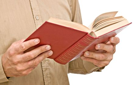 Man with open book Stock Photo - 5626269