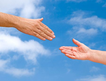 Hands ready for handshaking Stock Photo - 5626264