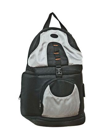 packsack: Photographer backpack (Camera case) isolated on white background