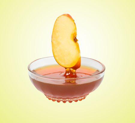 segment: Apple segment and honey