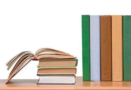 Row of books on shelf Stock Photo - 6262916