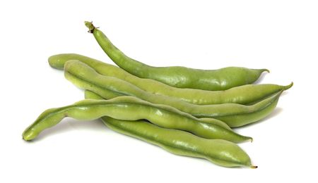 Green beans isolated on white background Stock Photo - 6640804