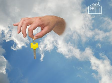 Gift of key from sky photo