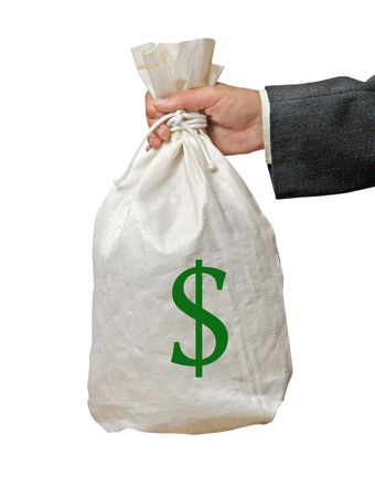 Bag with money photo