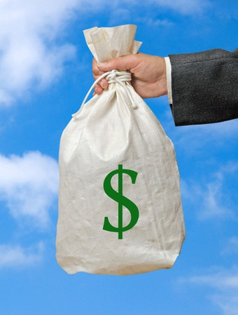 Bag with money Stock Photo - 6911137